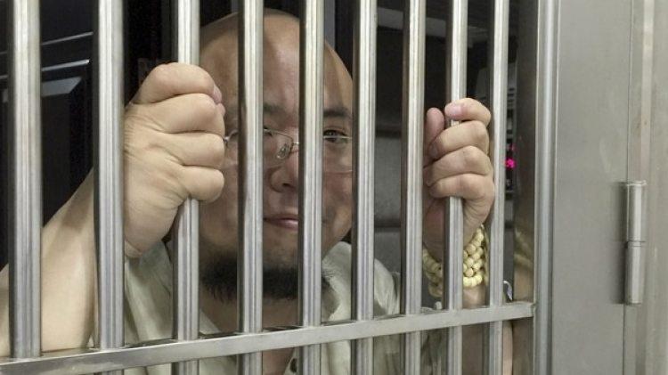 El disidente chino Wu Gan detenido en una foto de 2015 (AP)