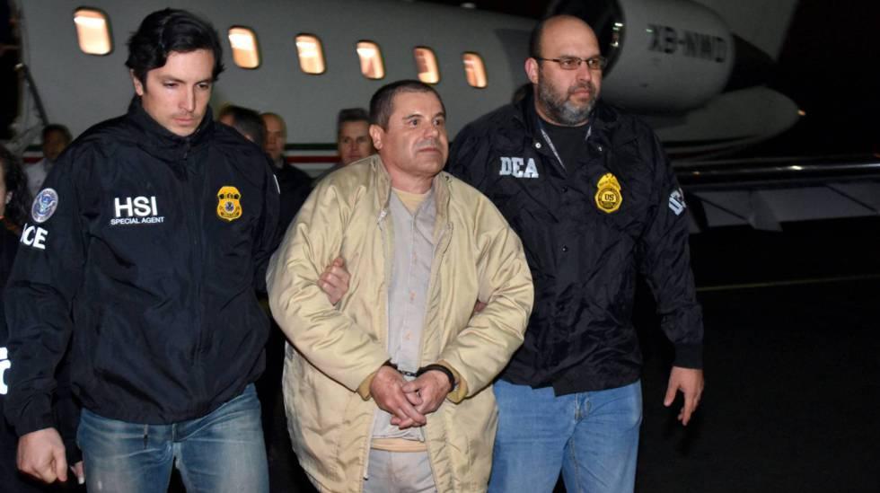 El Chapo, recién llegado a Estados Unidos tras su extradición