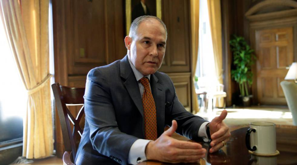 El secretario de la Agencia para la Protección del Medioambiente, Scott Pruitt.