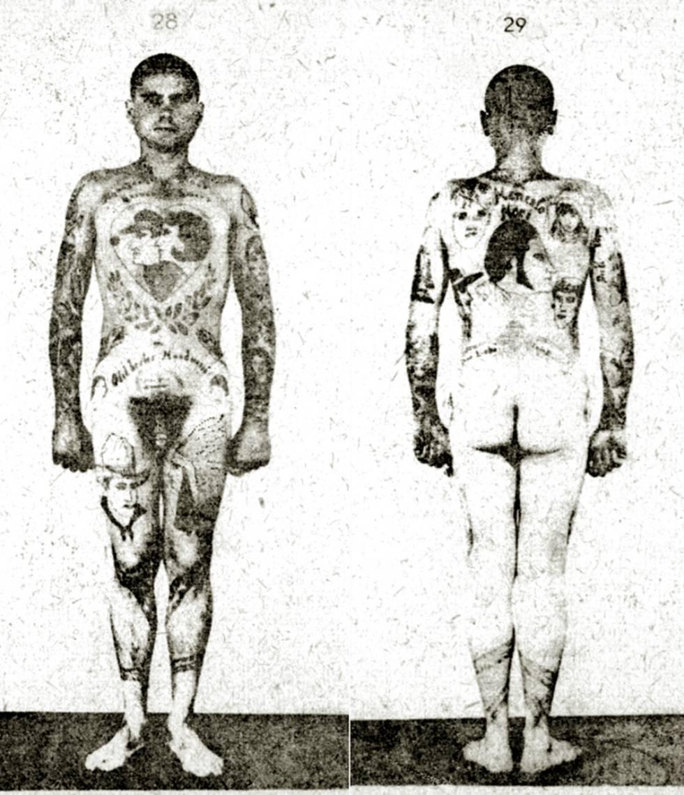 Un prisionero de Buchenwald posa para la tesis de Erich Wagner.