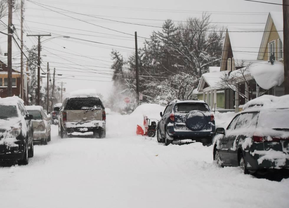 Una calle de Erie, en Pennsylvania, el pasado martes.