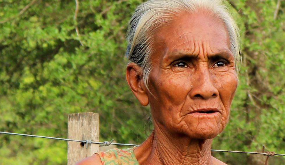 Una mujer de la comunidad Yakye Axa.
