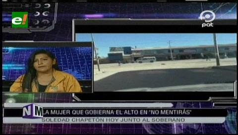 Alcaldesa Chapetón hace un resumen de sus dos años de gestión en el municipio de El Alto