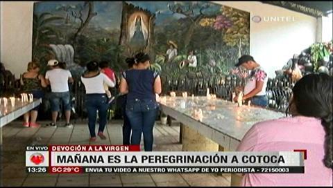 Cotoca: Todo está listo para recibir a los feligreses que lleguen ante la virgen