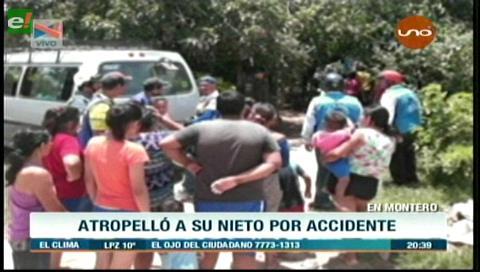 Hombre atropella y mata accidentalmente a su nieto de dos años