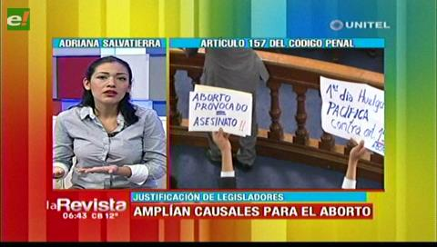Senadora Salvatierra dice que se implementará controles a las causales para el aborto