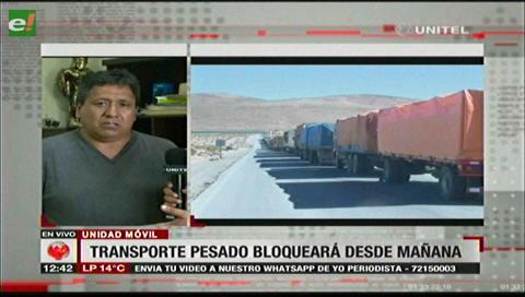 Transporte pesado amenaza con bloquear Santa Cruz si no recibe atención del Estado