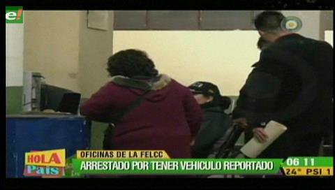 La Paz: Arrestan a sujeto por conducir un vehículo reportado como robado