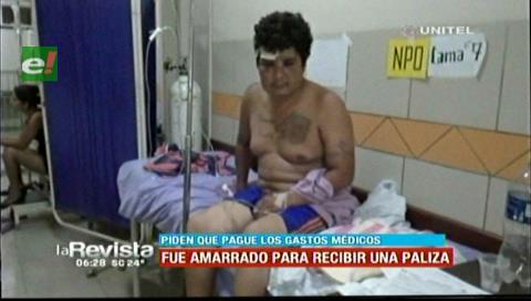 Hombre fue amarrado de pies y manos para ser golpeado brutalmente