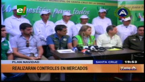 Municipio cruceño realiza controles en mercados por 'Plan Navidad'