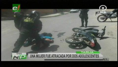Tarija: Mujer es atracada por dos adolescentes