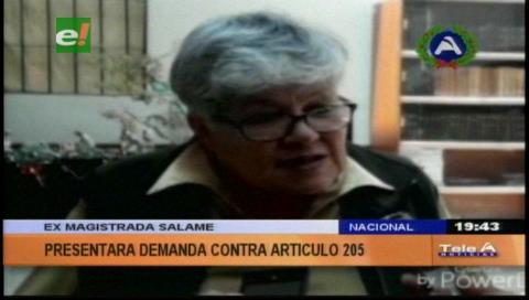 Silvia Salame presentará una demanda contra el artículo 205 del Código Penal