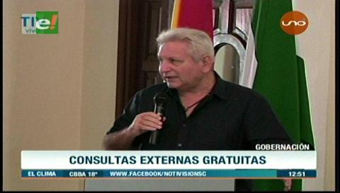 Santa Cruz: Consultas externas serán gratuitas en hospitales de tercer nivel