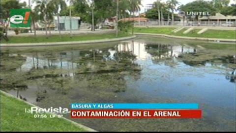 Denuncian contaminación en el parque El Arenal