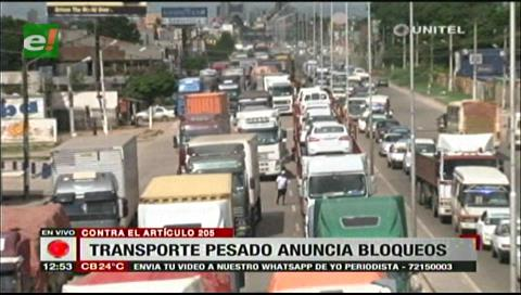 Transporte pesado rechaza Código Penal por aplicar la triple sanción