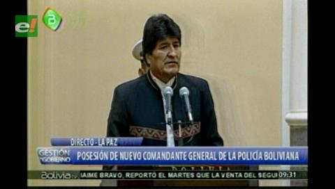 Morales proyecta plan de acción conjunta entre la Policía y FFAA para combatir al contrabando