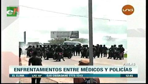 Varios heridos tras la gasificación en Pailas, la tensión sigue