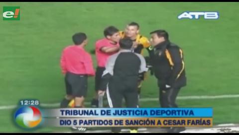 Sancionaron con 5 partidos a César Farías
