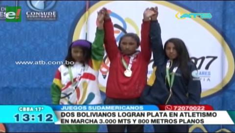 Bolivianos consiguen medallas de plata en Atletismo