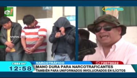Ministro de gobierno exige mano dura contra narcotraficantes