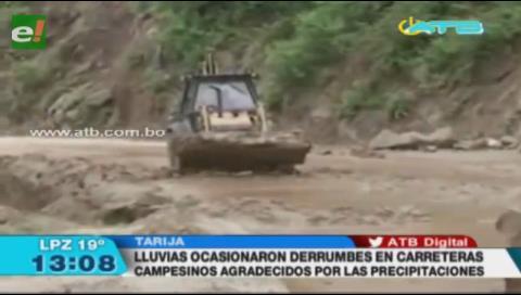 Lluvias provocan derrumbes en las carreteras del Chaco y Bermejo