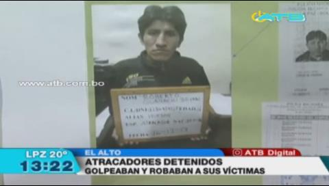 La Policía detuvo a 6 atracadores en El Alto