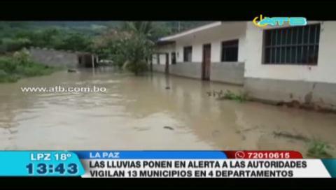 13 municipios del país fueron afectados por las intensas lluvias