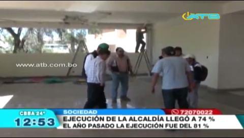 Ejecución presupuestaria de la Alcaldía de Cochabamba llegó al 74%