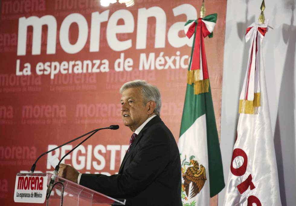 Andrés Manuel López Obrador, candidato de Morena a la presidencia de México