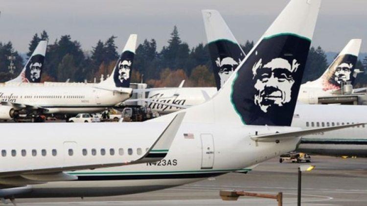 Un avión de Alaska Airlines