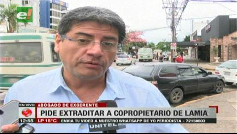 Defensa de exgerente de LaMia espera que detención de Rocha ayude al caso