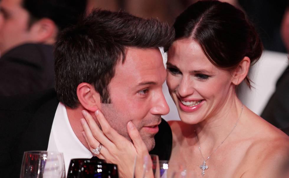 Los actores Ben Affleck y Jennifer Garner en la ceremonia de los