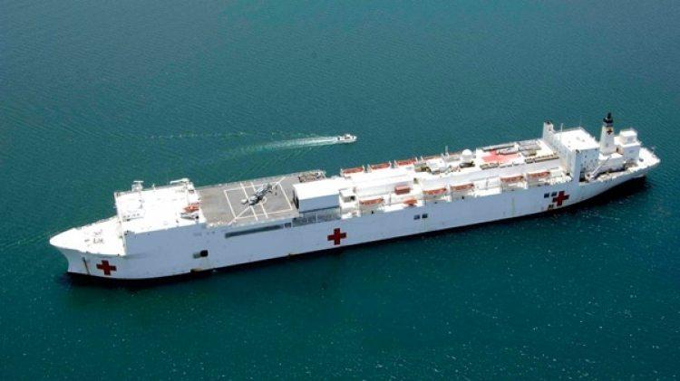 El buque hospital cuenta con una docena de salas de operación, servicios radiológicos digitales, un laboratorio y una farmacia (U.S. Navy)