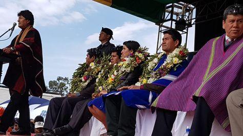 El presidente Evo Morales en Sucre. Foto:Ministerio de Comunicación