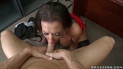 submissive secretary blowjob
