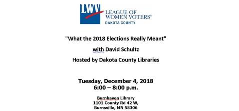 What the 2018 Elections Really Meant with David Schultz @ Burnhaven Library