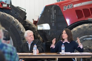 Rep. Angie Craig with Rep. Collin Peterson