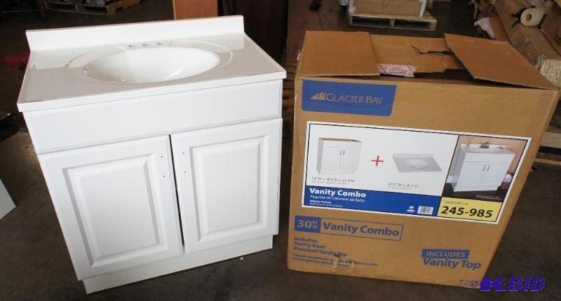 glacier bay vanity combo sink. dimensions: 18   home
