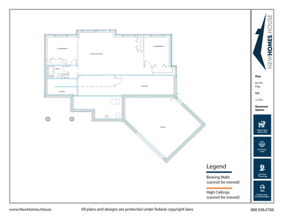 Flag single story home plan from CDAhomeplans.com Optional Lower Level Page