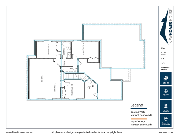 Sierra single story home plan from CDAhomeplans.com Optional Lower Level Page