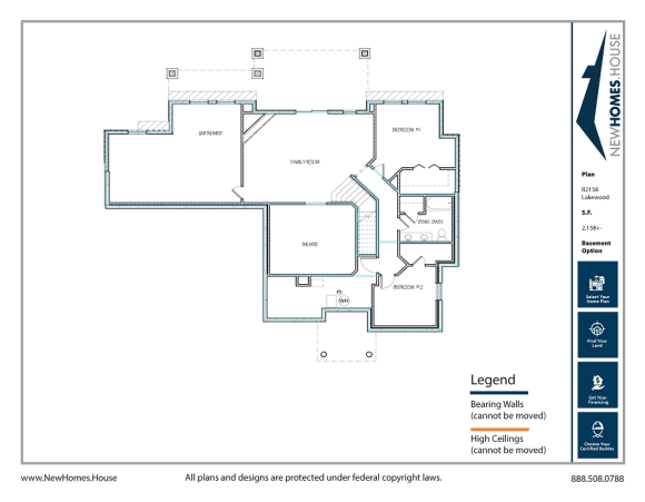 Lakewood single story home plan from CDAhomeplans.com Optional Lower Level Page