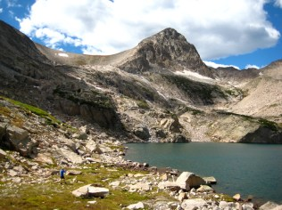 Mt. Toll dominates the view from Blue Lake. The opposite is not true.