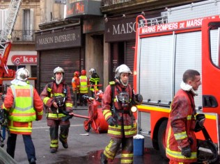 Hardworking French firemen.