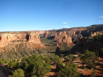 Monument Canyon in Colorado National Monument. Not a bad place to stretch the legs on a Friday evening.