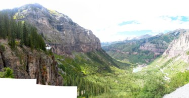 Panorama from the level of Bridal Veil Falls. Spectacular!
