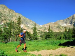 Basit running at Thunder Lake
