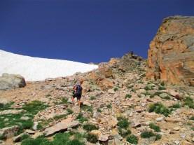 The steep climb up Boulder Grand Pass