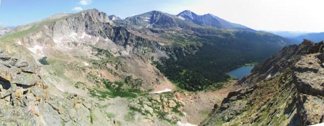 View north from Tanima Peak of Longs et al.