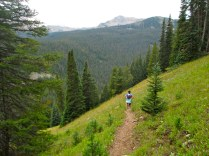 Descending toward North Tenmile Creek