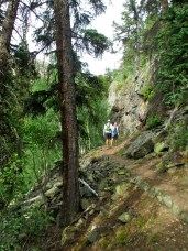 Interesting sections along the Lost Lake Trail.